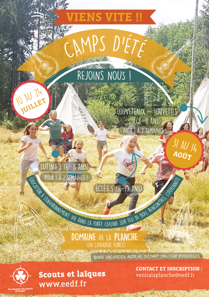 Flyer camp d'été